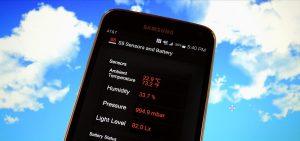 اندازه گیری رطوبت هوا توسط S4