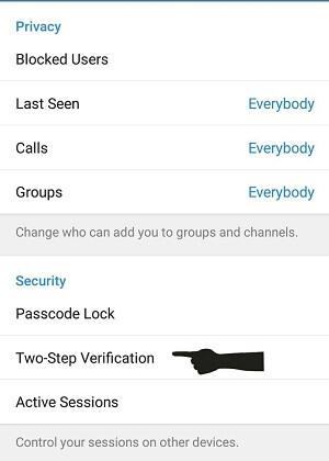 آموزش فعال کردن رمز دوم تلگرام